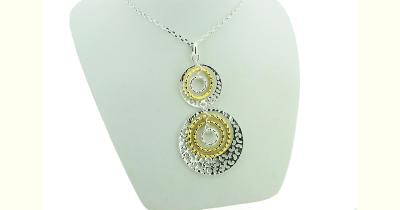 Sterling silver and gold plated multi-filigree pendant