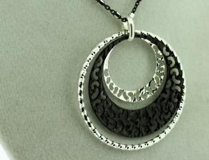 Sterling Silver Ring Filigree Necklace