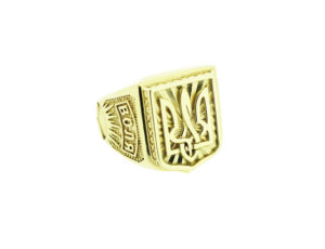 TR_2804 - Gold Ukrainian Tryzub Ring