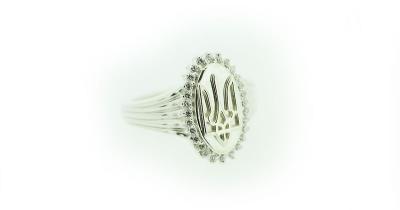 14kt Gold Ukrainian Tryzub Ring