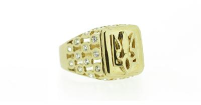 14kt Yellow Gold Ukrainian Tryzub Ring