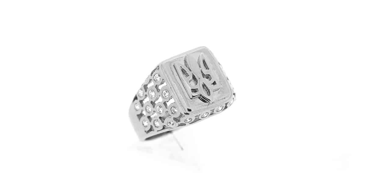 .925 Sterling Silver Tryzub Ring