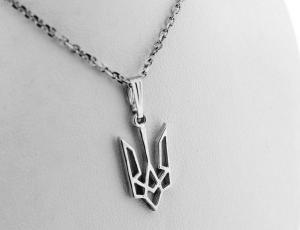 Sharp and Bold Sterling Silver Tryzub Pendant